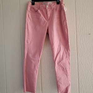 Seven 7 mid rise ankle skinny jeans w/release hem